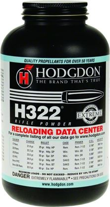 Picture of Hodgdon 3221 H322 Smokeless Rifle Powder 1Lb Can State Laws Apply