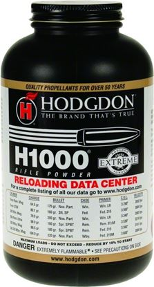 Picture of Hodgdon 10001 H1000 Extreme Smokeless Rifle Powder 1Lb Can State Laws Apply