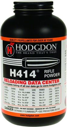 Picture of Hodgdon 4141 H414 Spherical Smokeless Rifle Powder, 1 Lb, State Laws Apply