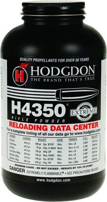 Picture of Hodgdon 43501 H4350 Extreme Smokeless Rifle Powder 1Lb Can State Laws Apply