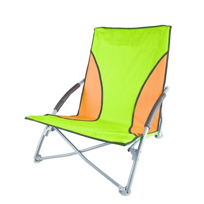 Picture of Stansport G-11-10 Low Profile Sand Chair - Green/Orange