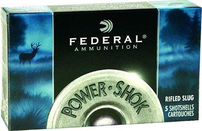 Picture of Federal F203-RS Power-Shok Rifled Slugs 20 GA, 2-3/4 in, 3/4oz, 1600 fps, 5 Rnd per Box