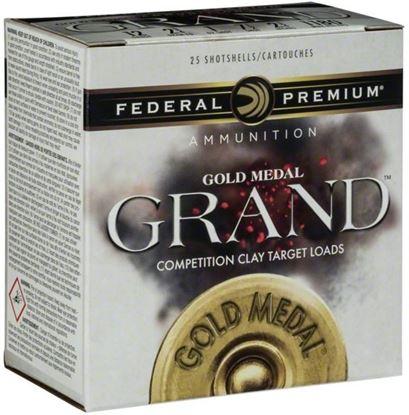 "Picture of Federal GMT115-7.5 Gold Medal Grand Plastic Shotshell 12 GA 2 3/4"" 2 3/4DE 1 1/8oz 7.5 1,145fps, 25 Rnd per Box"