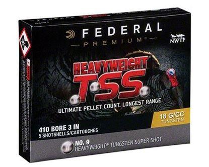 """Picture of Federal PTSS419F-9 Heavyweight TSS Turkey Shotshell 410 3"""" 13/16oz 9 (No FLITECONTROL FLEX) 5 Rnd per Box"""