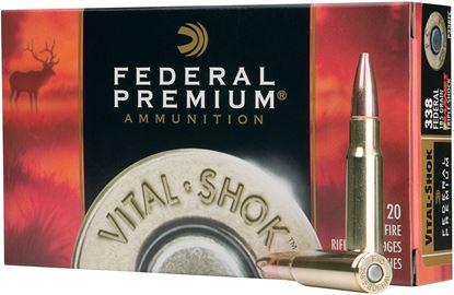 Picture of Federal P260A Premium Vital-Shok Rifle Ammo 260 REM, SG BTSP, 140 Grains, 2700 fps, 20, Boxed