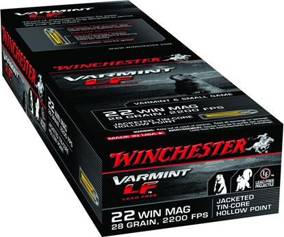 Picture of Winchester X22MHLF Varmint LF Rimfire Ammo 22 MAG, JHP, 28 Grains, 2200 fps, 50 Rounds, Boxed