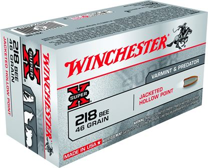 Picture of Winchester X218B Super-X Rifle Ammo 218 BEE, HP, 46 Grains, 2760 fps, 50, Boxed