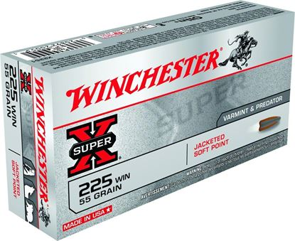 Picture of Winchester X222501 Super-X Rifle Ammo 22-250 REM, PSP, 55 Grains, 3680 fps, 20, Boxed