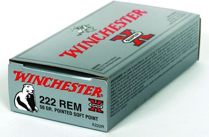 Picture of Winchester X222R Super-X Rifle Ammo 222 REM, PSP, 50 Grains, 3140 fps, 20, Boxed