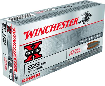 Picture of Winchester X223R Super-X Rifle Ammo 223 REM, PSP, 55 Grains, 3240 fps, 20, Boxed