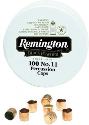 Picture of Remington 22619 #11 Blk Powder Percussion Cap 100Tin