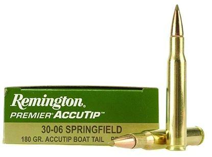 Picture of Remington PRA3006C Premier AccuTip Rifle Ammo 30-06 SPR, AccuTip/Boat Tail, 180 Grains, 2725 fps, 20, Boxed