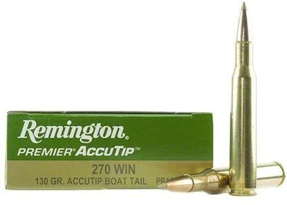 Picture of Remington PRA270WA Premier AccuTip Rifle Ammo 270 WIN, AccuTip/Boat Tail, 130 Grains, 3060 fps, 20, Boxed