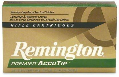 Picture of Remington PRA7MMRB Premier AccuTip Rifle Ammo 7MM REM MAG, AccuTip/Boat Tail, 150 Grains, 3110 fps, 20, Boxed