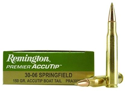 Picture of Remington PRA3006A Premier AccuTip Rifle Ammo 30-06 SPR, AccuTip/Boat Tail, 150 Grains, 2910 fps, 20, Boxed