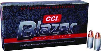 Picture of CCI 3509 Blazer Centerfire Pistol Ammo 9mm Luger 115Gr 50Rnd FMJ Blazer