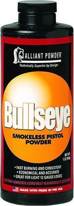 Picture of Alliant BULLSEYE Smokeless Pistol Powder Powder 1 Lb State Laws Apply