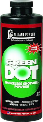 Picture of Alliant GREEN DOT Smokless Clay Target Shotgun Powder 1 Lb State Laws Apply