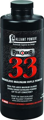 Picture of Alliant RELODER 33 Smokeless Magnum Rifle Powder 1 Lb State Laws Apply
