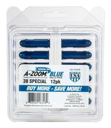 Picture of A-Zoom 16318 38 Spec Snap Cap, Blue, 12Pk