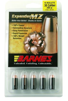 Picture of Barnes 30564 Muzzleloader Bullets 50Cal 250Gr MZ FB w/Sabots Per 15