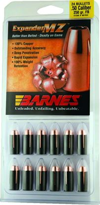 Picture of Barnes 30577 Muzzleloader Bullets 50Cal 250Gr MZ FB w/Sabots Per 24