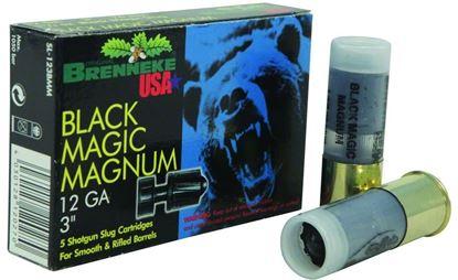 Picture of Brenneke SL-123BMM Black Magic Magnum Rifled Slugs 12 GA, 3 in, 1-3/8oz, 1502 fps, 5 Rnd per Box