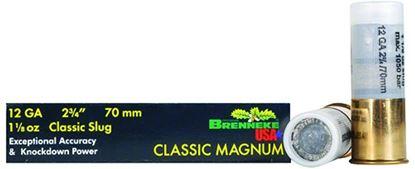 Picture of Brenneke SL-122CLM Classic Magnum Rifled Slugs 12 GA, 2-3/4 in, 1-1/8oz, 1510 fps, 5 Rnd per Box
