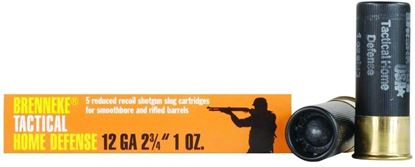 Picture of Brenneke SL-122THD Tactical Home Defense Home Defense Slugs 12 GA, 2-3/4 in, 1oz, 1378 fps, 5 Rnd per Box