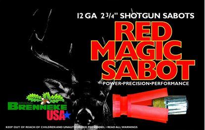 Picture of Brenneke SL122RMS Red Magic Sabot Slugs 12 GA, 2-3/4 in, 1oz, 1584 fps, 5 Rnd per Box
