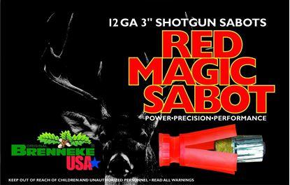 Picture of Brenneke SL123RMS Red Magic Sabot Slugs 12 GA, 3 in, 1oz, 1756 fps, 5 Rnd per Box