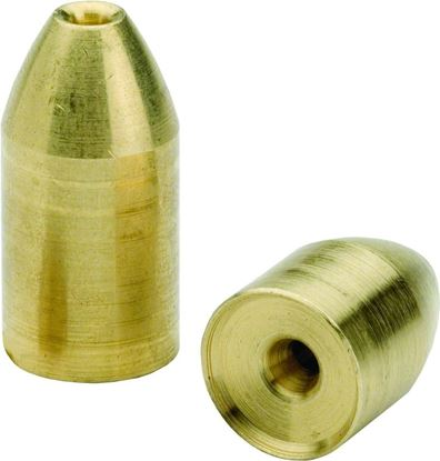 Picture of Bullet Weights Diamond Polished Brass Slip Sinkers