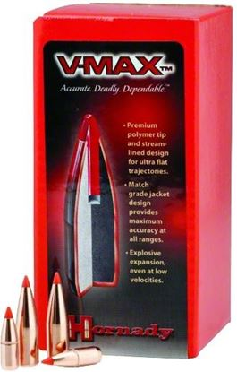 Picture of Hornady 22616 V-MAX Varmint Bullets .224 50Gr (250)