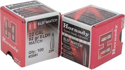 Picture of Hornady 22791 ELD Match Rifle Bullets, 22 CAL .224 75 Gr, 100 Box
