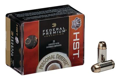 Picture of Federal P10HST1S Premium Personal Defense Pistol Ammo 10mm, HST/Hydra-Shok JHP, 200 Gr, 1130 fps, 20 Rnd, Boxed