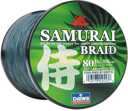 Picture of  Daiwa DSB-B20LB300YG Samurai Braided Line 20lb 300yd Filler Spool Green