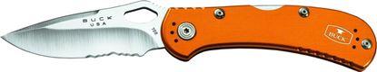 "Picture of Buck 0722ORS1 Spitfire lockback Folding Knife, 3 1/4"" 420HC SS Blade, Pocket Clip, Orange Handle"
