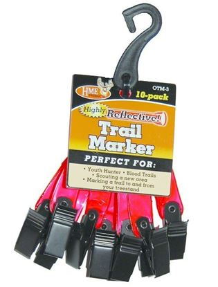 """Picture of HME OTM-3 3"""" Trail Markers 10Pk Org"""